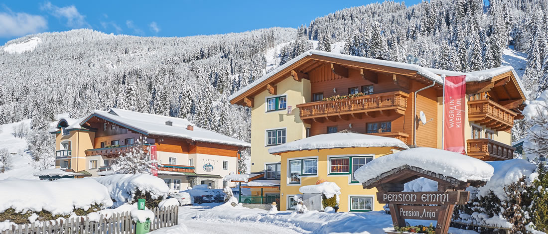 Skiing holiday directly at the slopes - Pension Anja in Kleinarl, directly on the skilift in Ski amadé, Austria